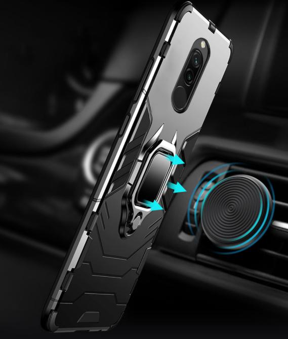Противоударный бампер с магнитом и кольцом Xiaomi Redmi 8