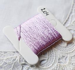 Мулине имитация шелка, 4м, 6 сложений, лилово-розовый