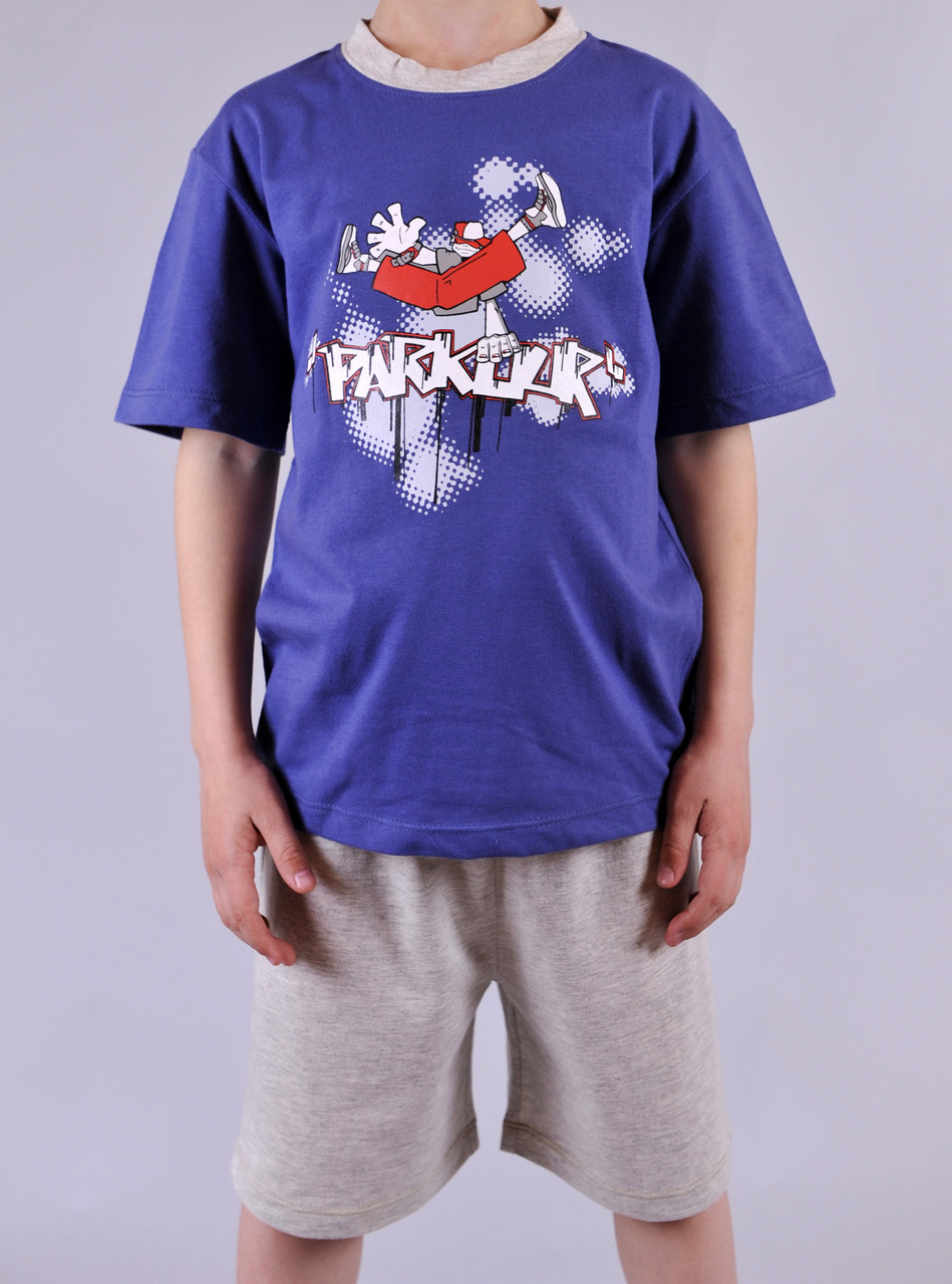 Пижама для мальчика Natural Club 1060 110 см синий