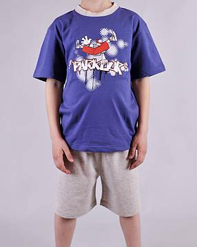 Пижама для мальчика Natural Club 1060 128 см синий, фото 2