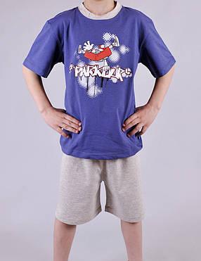 Пижама для мальчика Natural Club 1060 140 см синий, фото 2
