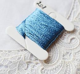 Мулине имитация шелка, 4м, 6 сложений, светло-синий