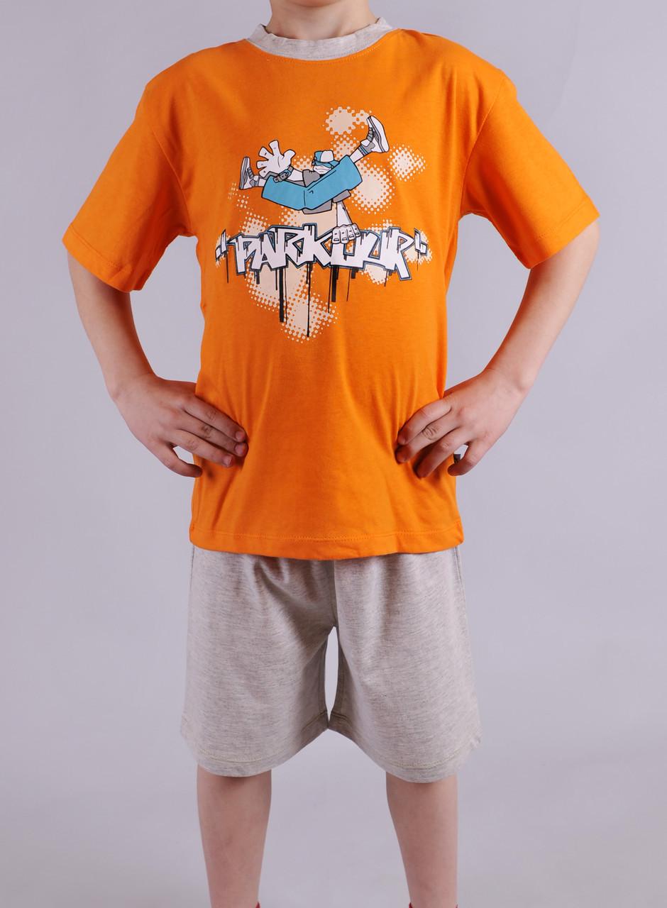 Пижама для мальчика Natural Club 1060 116 см Оранжевый