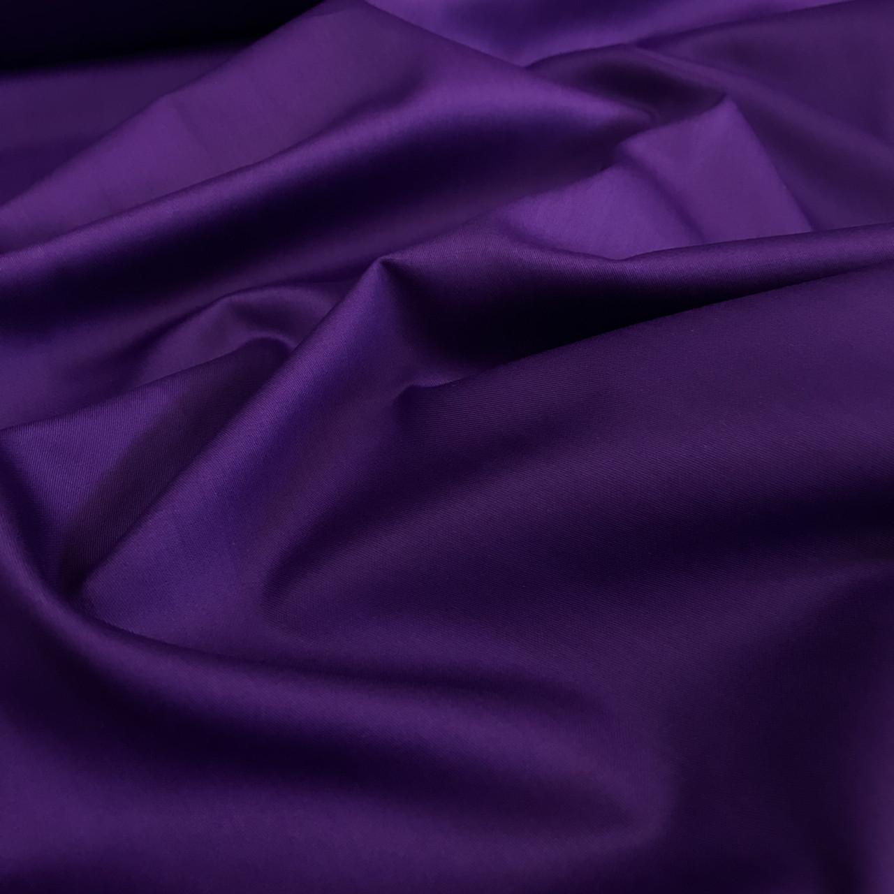 Сатин темно-фиолетовый мерсеризованный  (ТУРЦИЯ шир. 2,4 м) ОТРЕЗ (0.4*2.4)
