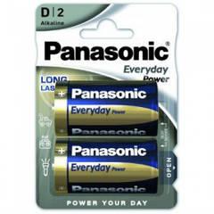 Батарейка D Panasonic EveryDay Power блистер 2шт алкалайн