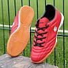 Футзалки, бампы, стоноги кросівки для футболу чоловічі підліткові червоні (код 9851)
