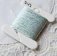 Мулине имитация шелка, 4м, 6 сложений, бледно-голубой