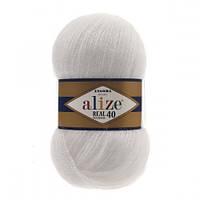 Пряжа для вязания Alize Angora Real 40 , цвет 55 ,40% шерсть, 60% акрил