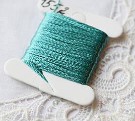 Мулине имитация шелка, 4м, 6 сложений, бирюзово-зеленый