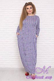 Длинное свободное женское платье супер батал (р. 42-90) арт. Элегант