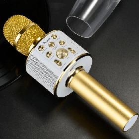 Микрофон караоке Hoco BK3 Coll sound KTV Золотой