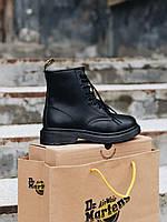 Ботинки женские зимние Dr Martens Mono Black Fur ore  мартенс