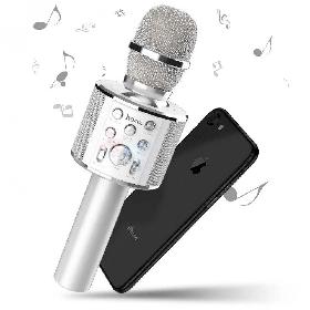 Микрофон караоке Hoco BK3 Coll sound KTV Серебро