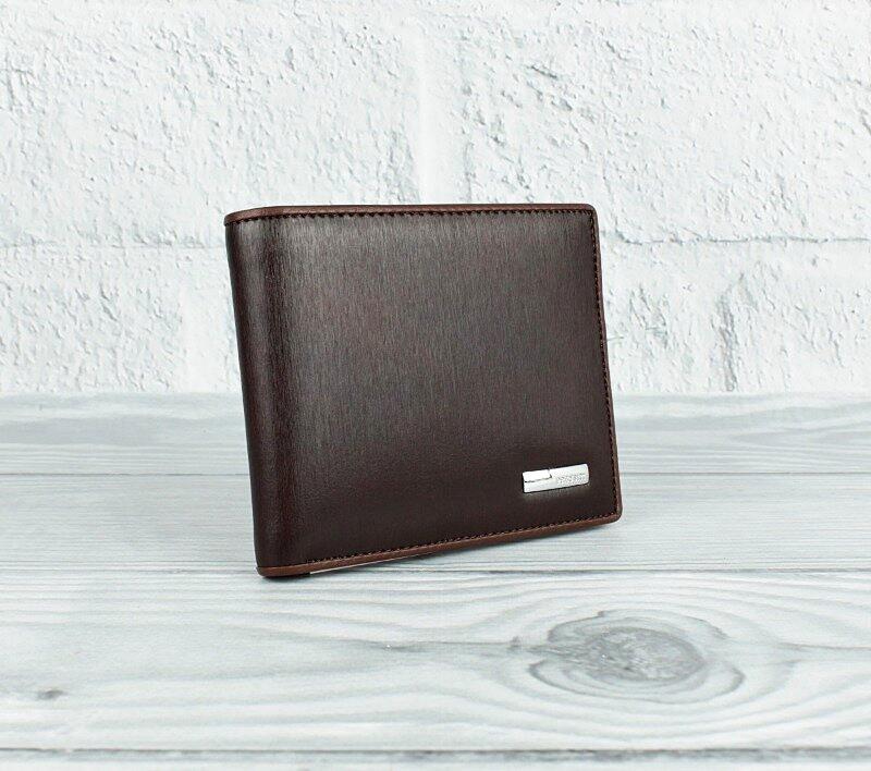 Кошелек мужской кожаный коричневый карты Prensiti 10-8731