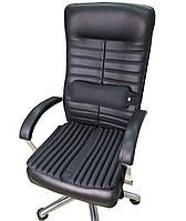 Ортопедические подушки EKKOSEAT на кресло руководителя (комплект). Черная