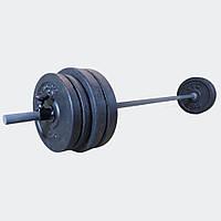 Штанга 36 кг разборная фиксированная прямая 1.5 м (розбірна фіксована пряма)