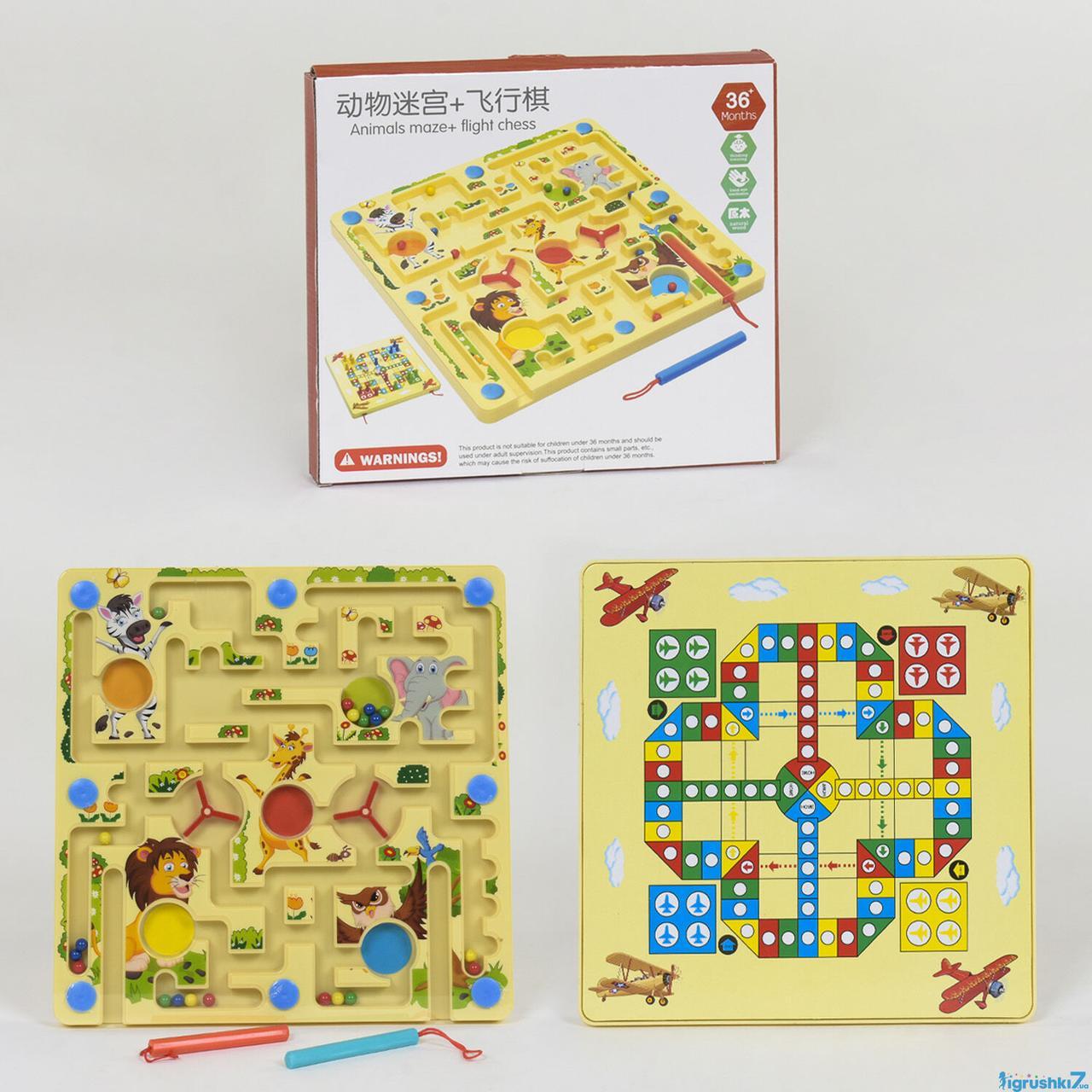 Деревянная игра Лабиринт C 39993 (60) магнитный, в коробке