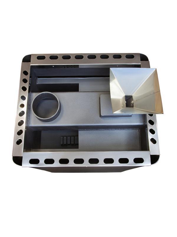 Дровяная печь для бани PAL PI-20 S со стеклом и испарителем