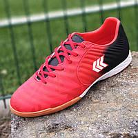 Футзалки, бампы, стоноги кросівки для футболу чоловічі підліткові червоні (код 9852), фото 1