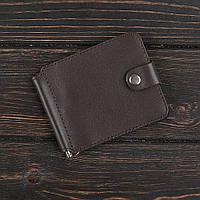 Зажим для денег v.1.0. Fisher Gifts STANDART коричневый (кожа)