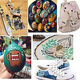 Маркери для дизайнерів, Набір різнокольорових акрилових маркерів 12 шт для малювання по тканині, склу, дереву, фото 10