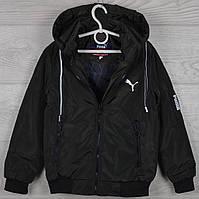 """Куртка подростковая демисезонная """"Puma реплика"""" 8-9-10-11-12 лет (128-152 см). Хаки темный. Оптом., фото 1"""