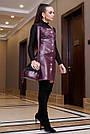 Молодёжное платье-сарафан эко-кожа, марсала, фото 3