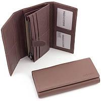 Красивый пудровый кошелек с дополнительним блоком для карточек  Marco Coverna