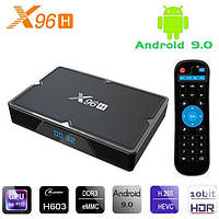 Смарт ТВ приставка X96H 2гб 16Гб Android 9 Allwinner H603 tv box 2-16 ТВ Фильмы Smart tv box