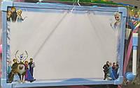 Доска для рисования двухсторонняя КА-06 (меловая+сухостираемая) 20*30 см.