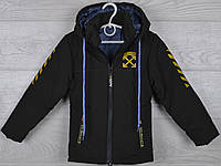 """Куртка детская демисезонная """"Off White реплика"""" 4-5-6-7-8 лет (104-128 см). Хаки темный. Оптом., фото 1"""