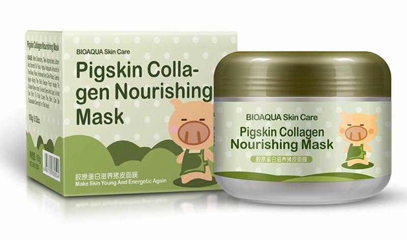 Коллагеновая маска Bioaqua Pigskin Collagen Nourishing Mask - 100 гр