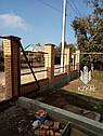 Установка забора из профнастила цена киев, монтаж ворота, калитка с гарантией, фото 6