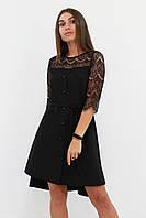 S, M, L / Коктейльне жіноче плаття з мереживом Adelin, чорний