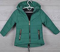 """Куртка детская демисезонная """"Paris"""" 2-3-4-5-6 лет (92-116 см). Аппликация на спине! Зеленая. Оптом., фото 1"""
