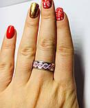 Кільце з рожевою емаллю і цирконом срібло Мейт, фото 4