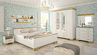 Спальня комплект-1 Ирис 160х200 Андерсон пайн + Дуб золотой Мебель Сервис