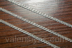 Серебряная цепочка женская - плетения Нонна