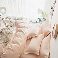 Постельное белье Страйп-сатин Персиковая пудра (Турция)