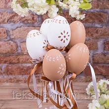 Набор пасхальных яиц на палочке 6 шт. - пасхальный декор