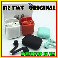 Беспроводные наушники i12 TWS AirPods mini аирподс блютус . Навушники безпровідні і12 сенсорні