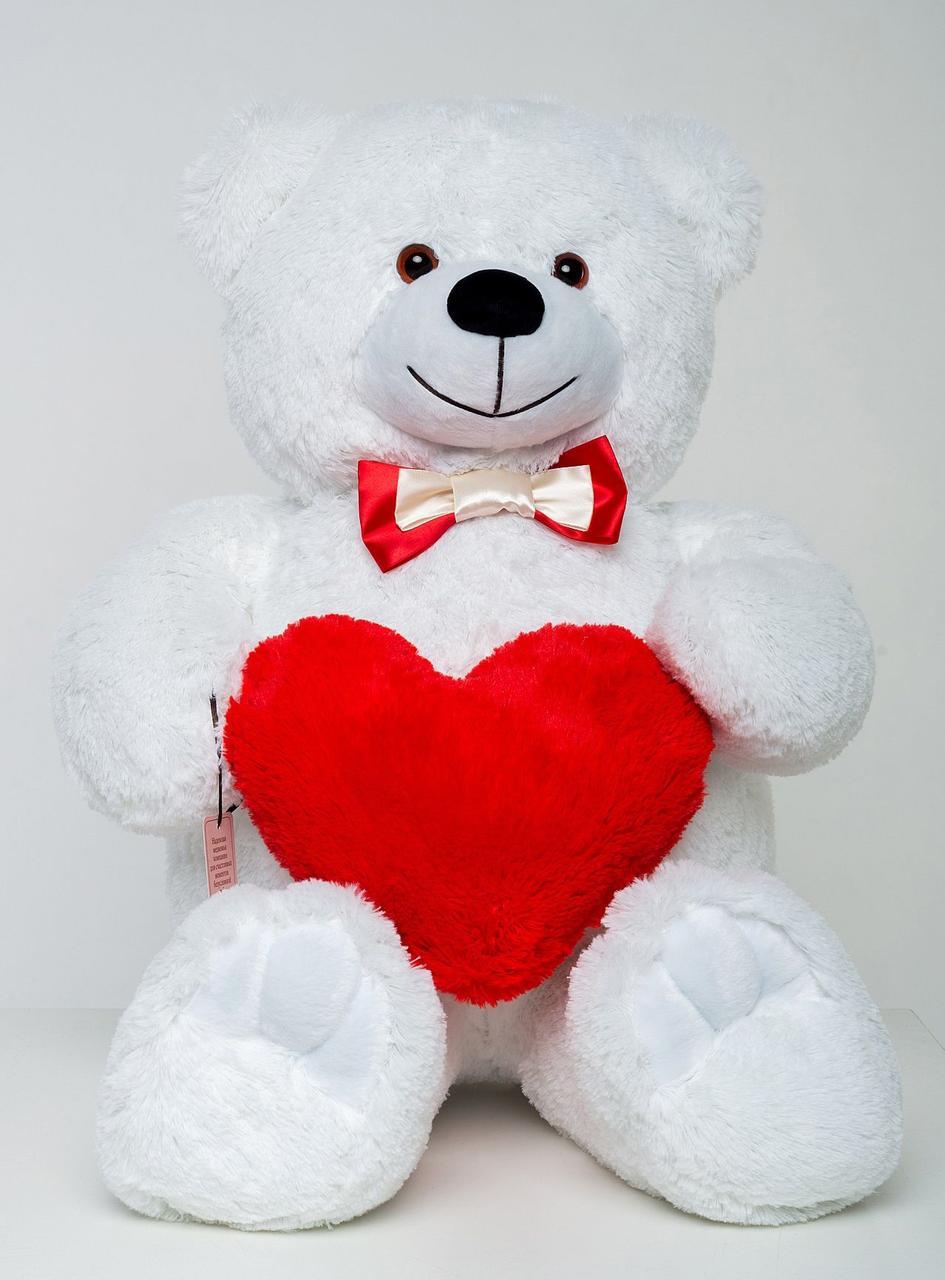 Мишка с сердцем Mister Medved Белый 85 см