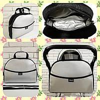 Универсальная сумка для коляски Эко кожа с ручкой Серебристая Zdrowe dziecko New Польша