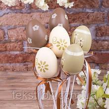 Набор пасхальных яиц на палочке 6 шт. Цветы - пасхальный декор