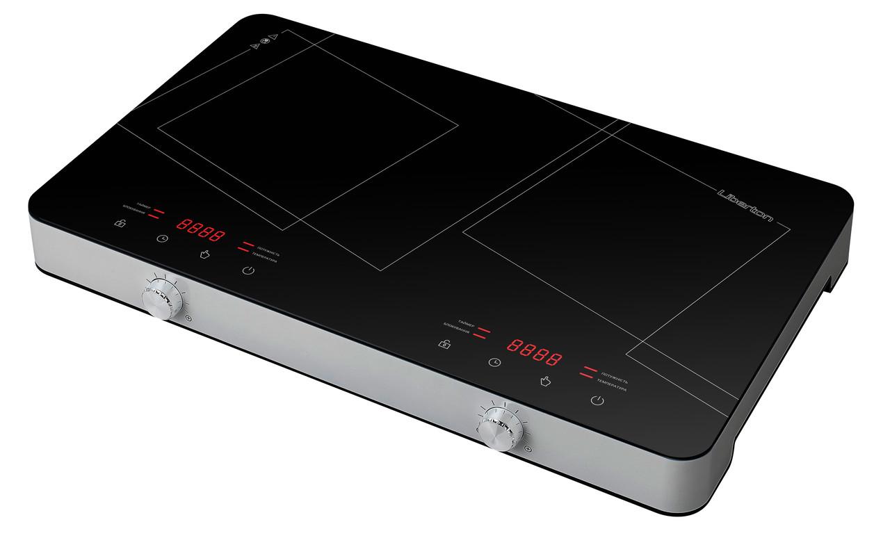 Плита индукционная настольная (2 конф.260 мм) LIBERTON LIC-3102