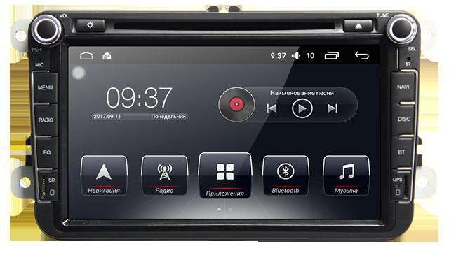 Штатная автомагнитола AudioSourceS T90-810A для  (Skoda Fabia, Roomster, Spaceback (через рамку))