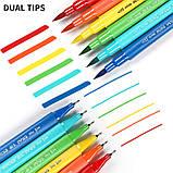 Большой набор маркеров для рисования и скетчинга, двусторонние маркеры на водной основе 100 цветов, фото 7