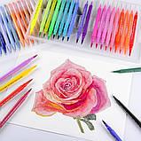 Большой набор маркеров для рисования и скетчинга, двусторонние маркеры на водной основе 100 цветов, фото 8
