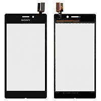 Touchscreen (сенсорный экран) для Sony Xperia M2 Aqua D2403, оригинал (черный)