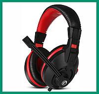 Наушники проводные Marvo H8321P с микрофоном Black-Red